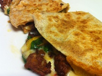 veggie and chorizo quesadilla